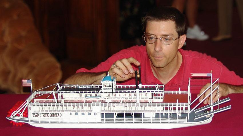 Cape Girardeau model, Howard Steamboat Museum