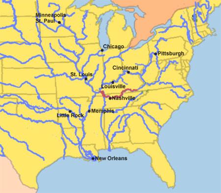 Cumberland River map