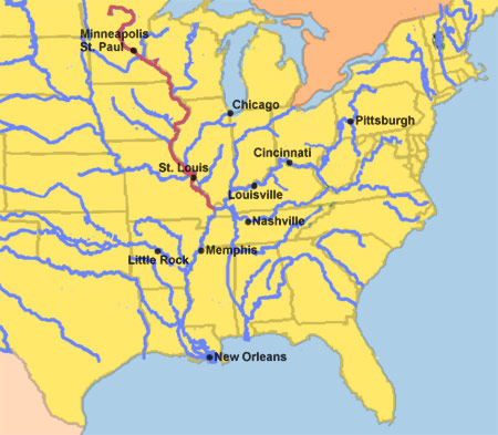 Upper Mississippi River map